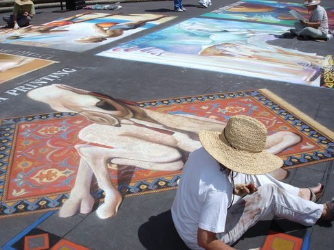 i Madonnari, chalk drawing