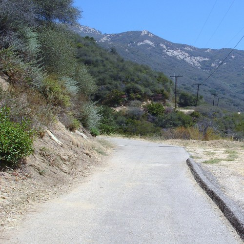 Approach to Seven Falls, Mission Canyon, Santa Barbara