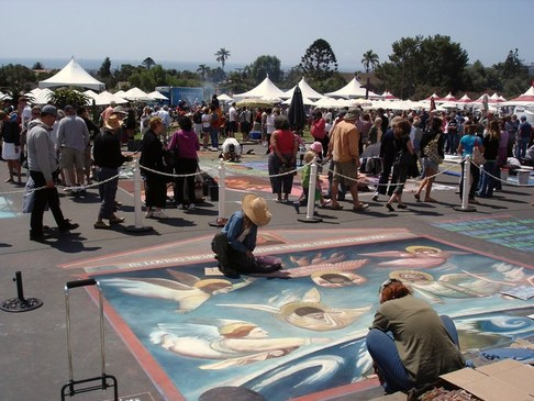 I Madonnari Festival, Santa Barbara Mission