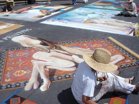 i Madonnari, chalk drawing